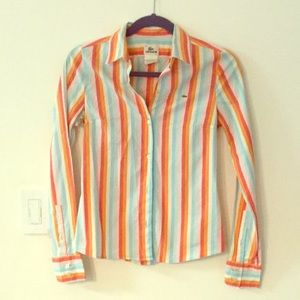 Lacoste Striped Button Up Shirt